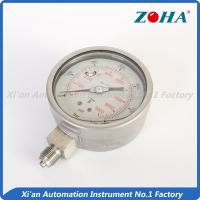 China Stainless Glycerin Filled Pressure Gauge / 316 Differential Pressure Gauge on sale