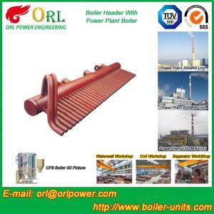 ASME Standard Low Loss Header Boiler Parts / Boiler Steam Header Customization Manufactures