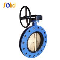 China API 598 Rubber coated U Section Double Flanged Butterfly Valve on sale