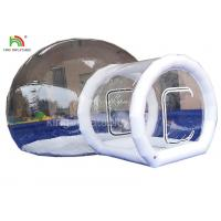 PVC Tarpaulin  Inflatable Camping Bubble Tent For Hotel 4 m Diameter