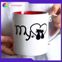 Handprinted Bone China Coffee Cups 600ml Nordic Ceramic With Photo Printing Manufactures