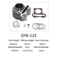 Durable Aftermarket Motorcycle Cylinder Kit GY6 125 For Honda Halma 125 Scooter Manufactures