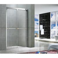 Mirror Color Double Sliding Glass Shower Screens With Double Long Hole Distance Handles For Hotel Manufactures