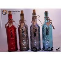 Electroplate Finish Wine Bottle Led Lights With Paint Color / Words Manufactures
