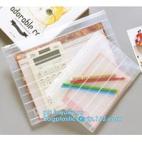 Fashion Colored Mesh Office Stationery A4 Clear Folder with Zipper, Promotional Customize Logo A4 A5 pvc zipper document Manufactures