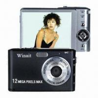 China 3.0-inch TFT LCD 12MP Digital Cameras for Winait's with 8x Digital Zoom and PC Camera on sale