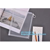 Custom transparent pp slider bag with air hole, writable zip lock bags with white panel, slider bags with zipper lock Manufactures