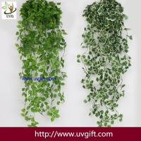 China UVG 90cm long artificial grape vines fake ivy with plastic leaf garland for garden ornament BHP01 on sale