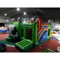 Soccer Football Inflatable Jumping Castle Digital Printing 3 Years Warrenty Manufactures