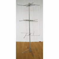 X Shape 4 Pegs spinning display rack With Wire Foldable Base Manufactures