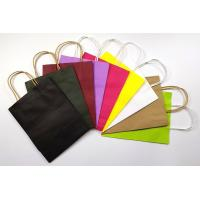 Recyclable Customized Kraft Paper Shopping Bags Small Size With Handles Manufactures
