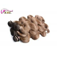 Unprocessed Human Virgin Real Malaysian Human Hair Weave Color 6 Body Wave 18 Inches Manufactures