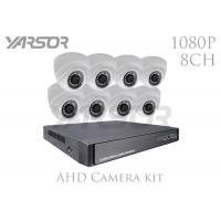 Quality 2MP 3.6mm Lens CCTV Dome Camera Kits , 1080P Wireless Security Camera System With DVR for sale