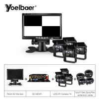 China 4 Channel Mobile DVR System Vehicle Security System MDVR Kit 7 LCD Monitor on sale