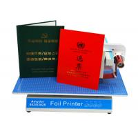 AMD-8025 Custom Hot Foil Machine Foil Label Printer Machine For Book Covers / Dated Items Manufactures