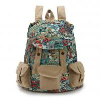 China New Retro Vintage Canvas Bags Camping Travel Casual Backpack Satchel School Bags on sale