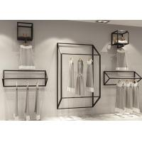 Customized Size Clothing Display Rack / Garment Wall Display Small And Light Style Manufactures