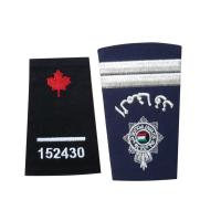 China Custom Embroidered Clothing Patch, Personalized Badges With Serging / Heat-Cutting Edge on sale