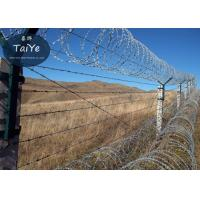 China Industry Security Single CoilRazorWire Hot Dipped Galvanized Razor Edge Wire on sale