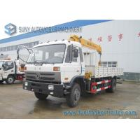 Cummins 170 HP Dongfeng 4x2 Truck With XCMG 5 T Telescopic Boom Crane Manufactures