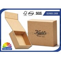 Logo Printed Brown Kraft Paper Gift Box / Magnetic Closure Hinged Lid Cardboard Box Manufactures