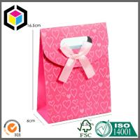 Red Color Printing Tab Top Paper Bag with Hidden Velcro; Sharp Top Tent Bag Manufactures