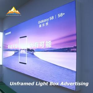 Super Brightness Frameless Advertising Sign Borderless Light Box for Advertising Manufactures