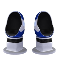10 Square Meters Single Seat 9D VR Egg Chair with DPVR E3 2K Glasses Manufactures