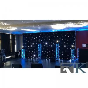 20x10ft LED star curtain for stage backdrops led twinkle net light  velvet curtain Manufactures