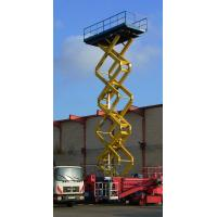 Electric loading dock Hydraulic lift platform 12m 500kg DC 24V for building cleaning Manufactures