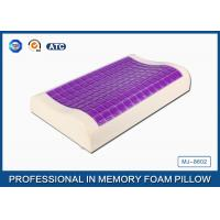 Small Ice Cooling Gel Contour Visco - Elastic Memory Foam Pillow Covered Bamboo Pillowcase Manufactures