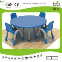 Plastic Kids Round Table and Chair (KQ10183C) Manufactures