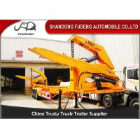 MQH37A 37 Ton Container Side Lifter Trailer Side Loader Truck Trailer  20ft 40ft Manufactures