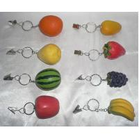 China Polyresin keychain, polyresin fruits  on sale