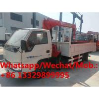 China HOT SALE! JMC single row 116hp diesel 2tons telescopic crane boom mounted on truck,competitive price truck with crane on sale