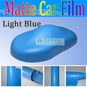 China Matte blue Car Paint Protective Filmmanufacturers of Matt Finish vinyl Size 1.52x30m on sale