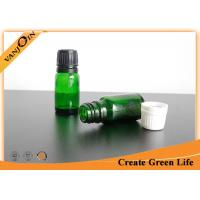 China 10ml Reusable Green Colored Essential Oil Glass Bottles Wholesale With Dropper Cap on sale