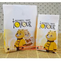 Custom bread food paper bags with your own logo,Factory Supplier Eco-friendly Kraft Paper Bread Packaging Bag Manufactures