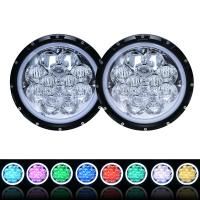 60W 5D RGB Jeep Wrangler Headlights with APP Control Multi - Color Bluetooth Remote Manufactures
