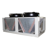 China Separated Type Air Condenser Cabinet Water Chiller Convenient Air Cooling Fin On the Rooftop And Chiller Unit Inside on sale