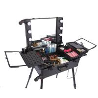Shining Appearance Makeup Case With Mirror And Lights Long Lasting Usage Manufactures