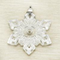 Hand craft snowflake glass decoration holiday hanging glass decoration wholesale price Manufactures