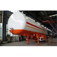 Double BPW/FUWA axles 17tons bulk road transported lpg gas tank, propane gas trailer Manufactures