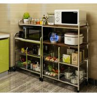 Flexible Wire Rack With Wheels, High Load Stainless Steel Kitchen Rack Shelf Manufactures