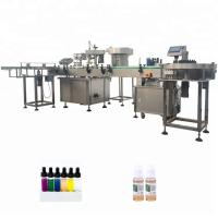 China PLC Control Automatic Bottle Filling Machine For Essential Oil Cigarette on sale