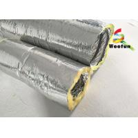 Quality Round 4 Inch Flexible HVAC Duct Insulation Wrap Insulated Aluminum Small Bending for sale