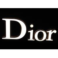 Custom Dior Light Up Sign Letters ,  LED Commercial Advertising Luminous 3D Plastic Letters Manufactures