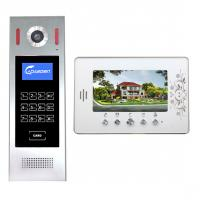 China 7 inch video door phone telephone entry system flush mount door camera intercom for mutil apartments on sale