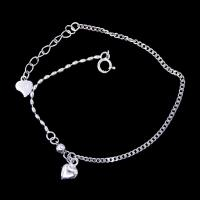 Heart Shape Plain Silver Bracelet Plated Rhodium Vintage Jewelry Manufactures