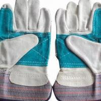 China Gardening Gloves, Made of Leather, Different Colors are Available, OEM Welcomed on sale